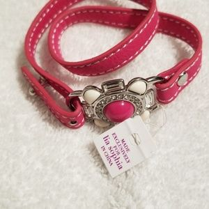 NWT Lia Sophia wrap bracelet pink leather